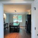 Dining room in renovated home in Arlington, Virginia