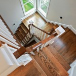 Staircase in renovated home in Arlington, Virginia