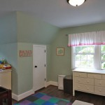 Bedroom of renovated Arlington, Virginia home,