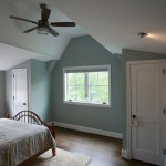 Bedroom of renovated Arlington, Virginia home