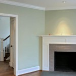 Fireplace in renovated home in Arlington, Virginia