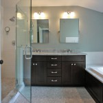 Luxury bathroom of renovated Arlington, Virginia home
