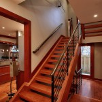 Staircase in custom built Chevy Chase home, Maryland