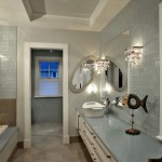 Modern bathroom in luxurious custom built Chevy Chase home, Maryland