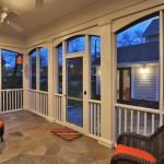 Sunroom in custom built Chevy Chase home, Maryland