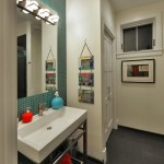 Bathroom in custom guest house in Chevy Chase, Maryland
