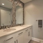 Modern bathroom of renovated modern home on the Maryland Eastern Shore