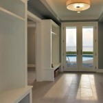 Mudroom of renovated modern home on the Maryland Eastern Shore