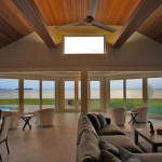 Living room of renovated modern home on the Maryland Eastern Shore
