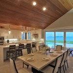 Kitchen and dining room of renovated modern home on the Maryland Eastern Shore