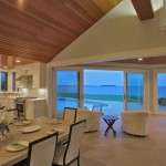 Dining room of renovated modern home on the Maryland Eastern Shore